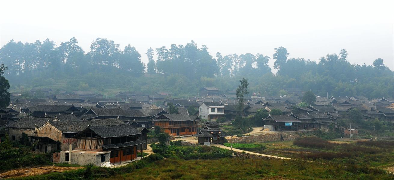 大园古苗寨,位于绥宁县关峡苗族乡大园村,是一