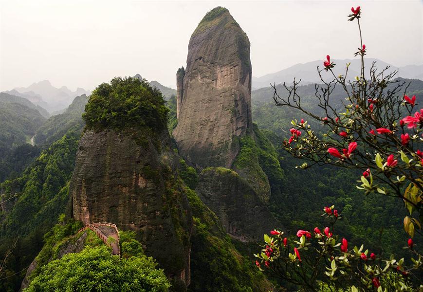 拍摄于新宁县崀山风景区之2013年辣椒峰