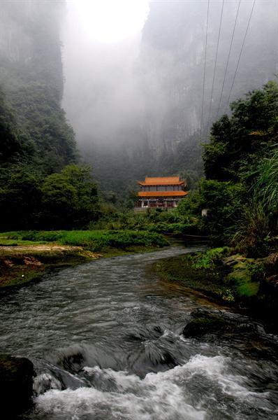 湄江风景区观音岩美景