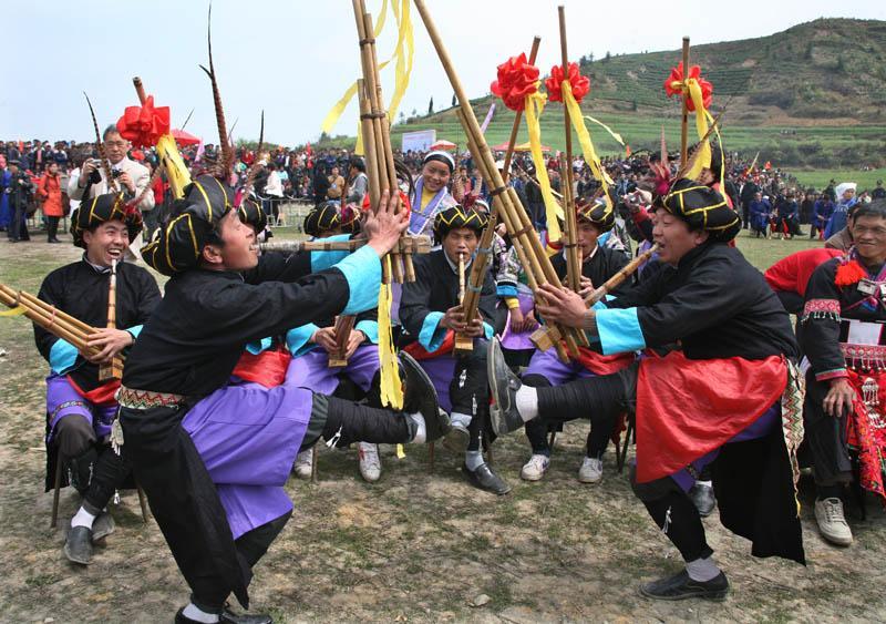 贵州黔南苗族蹉步芦笙舞