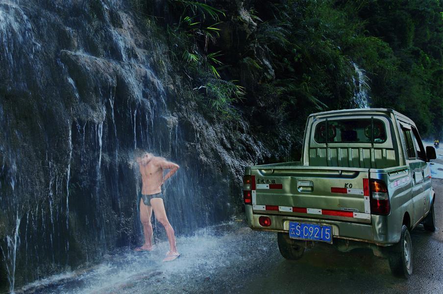 span> 2014年7月24日摄于云南省耿马县孟定镇,遇到天然温泉,好好洗浴