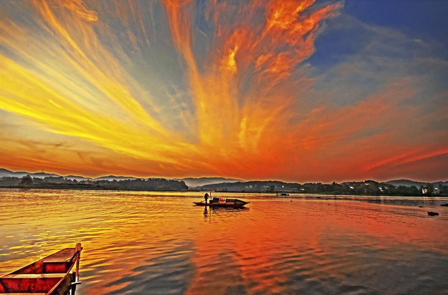 刘红霞照片_《天子湖畔红霞飞》 -HPA湖南摄影网