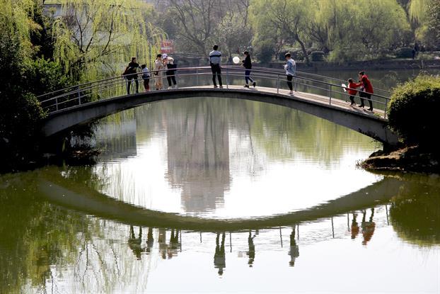 湘潭雨湖公園七星橋